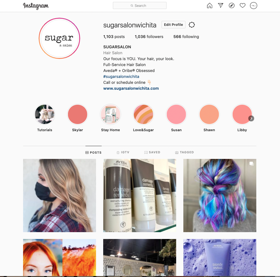 Sugar Salon Instagram